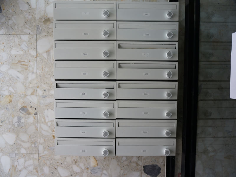 ダイヤル式、郵便ポスト