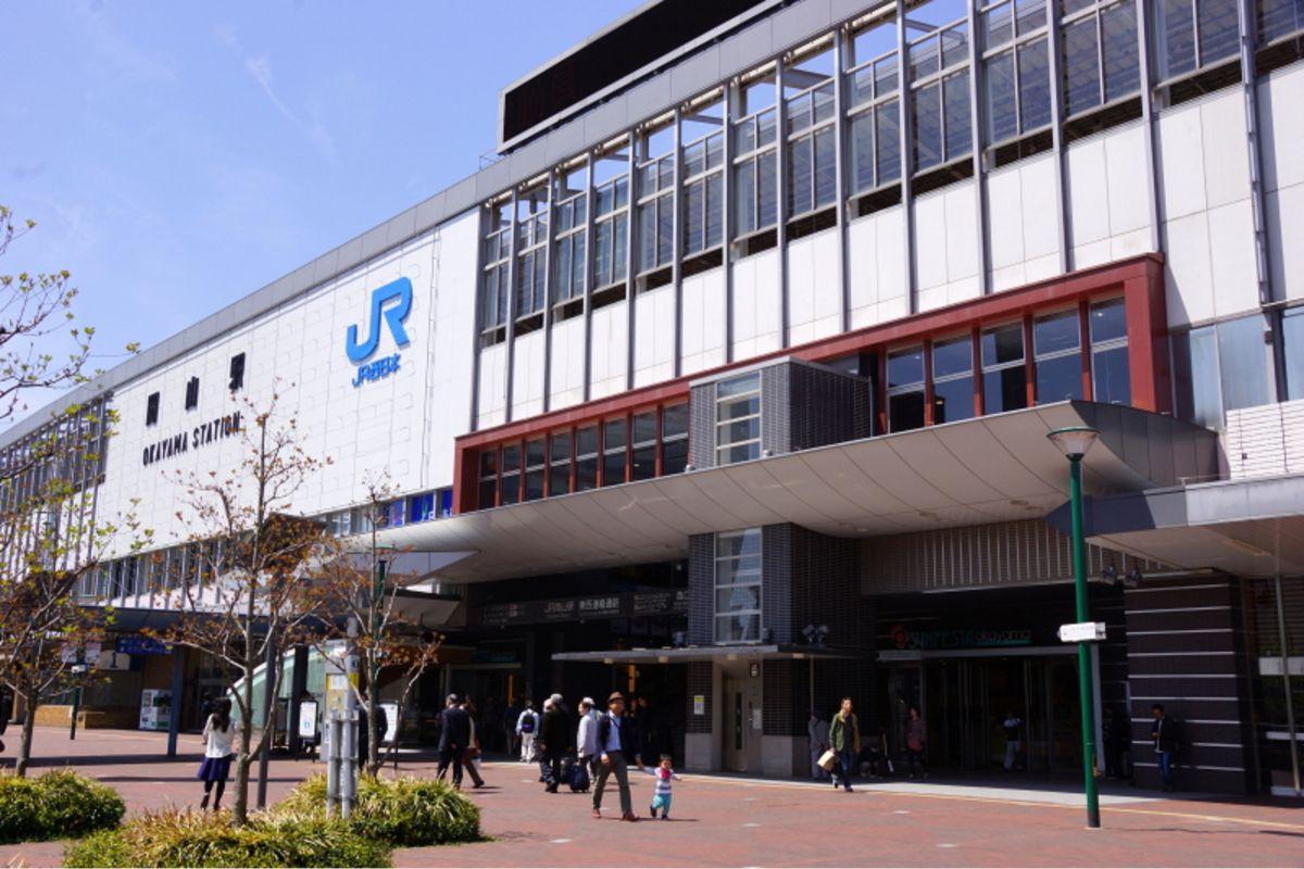 岡山駅まで徒歩22分、1.7㎞。