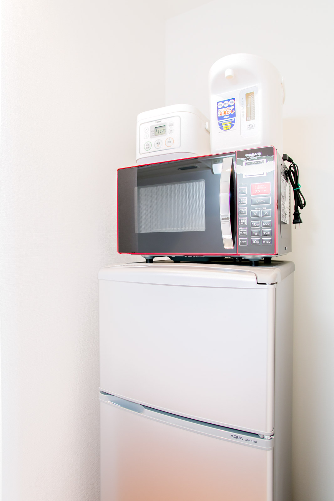 冷蔵庫・ポット・炊飯器・電子レンジ
