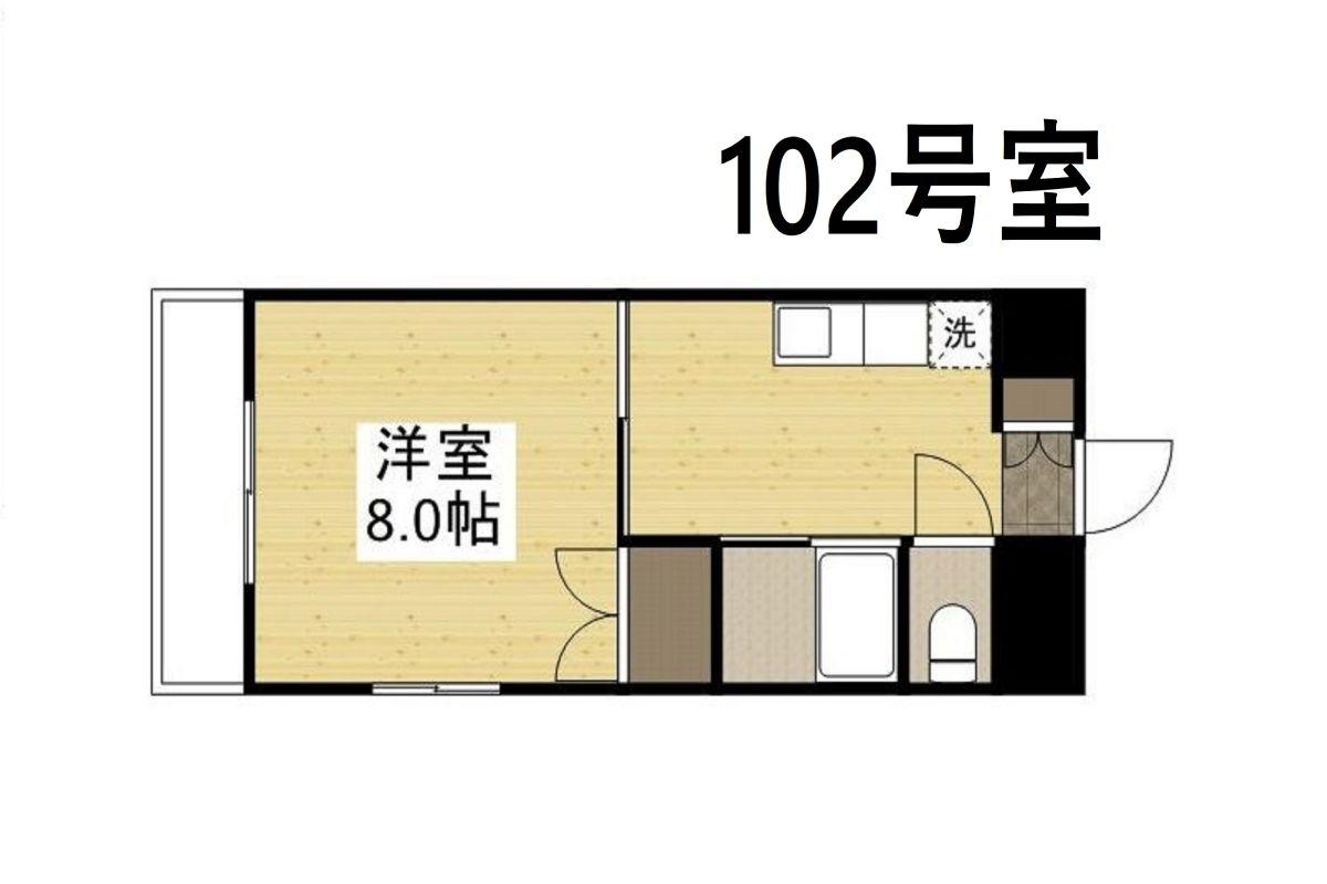 「Kマンスリー駅元【岡山駅西口前】」間取図画像