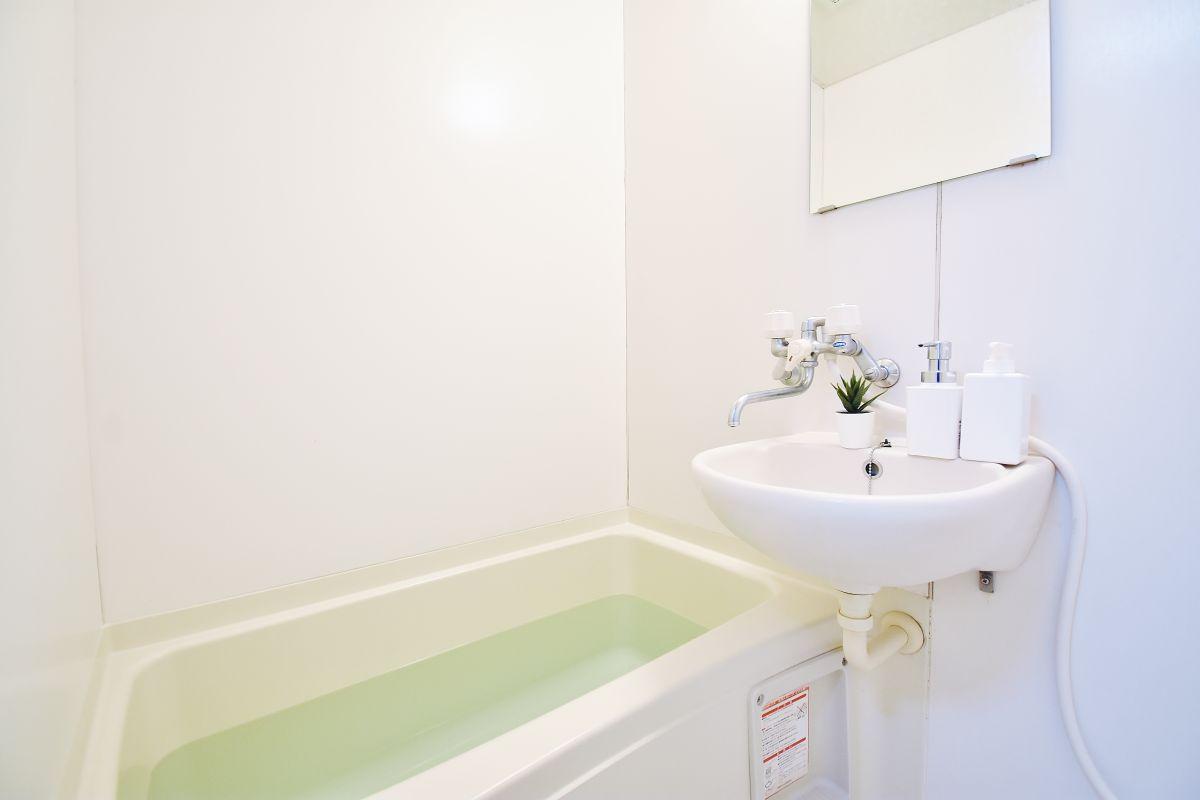 岡山・倉敷ウィークリーマンションではリンスインシャンプーやボディソープ・お風呂用洗剤もご用意しております。
